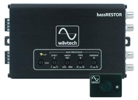 Wavtech bassRESTOR 2CH bass restoration Processor W/remote