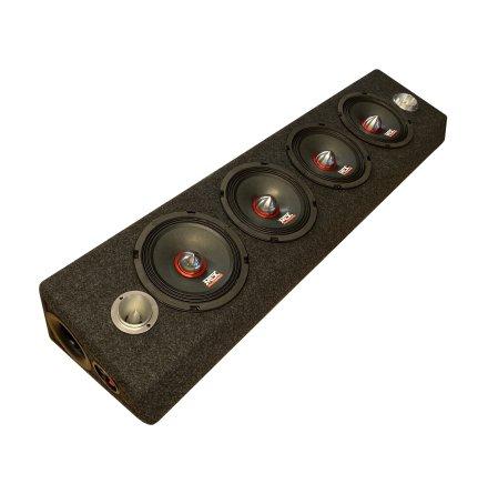 "MTX SPL låda 4x6,5"" med EDGE diskanter"