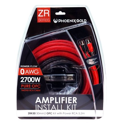 Kampanj! 50mm2 OFC kit with power RCA 5,2m