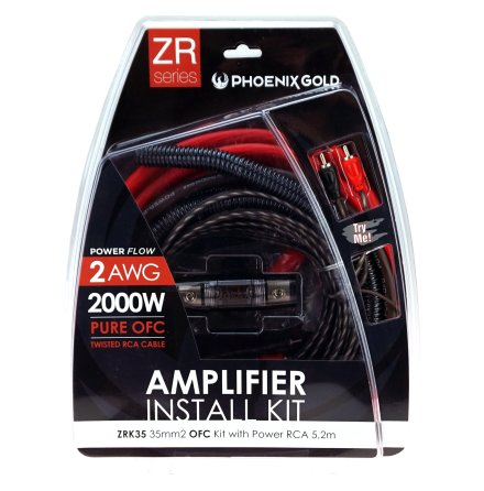 Kampanj! 35mm2 OFC kit with power RCA 5,2m